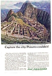 Click here to enlarge image and see more about item auc14a15: Panagra Machu Picchu Ad auc14a15 Sep 1983