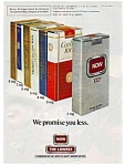 Click here to enlarge image and see more about item auc14a22: Now 100s Cigarettes Ad Sat. Evening Post