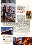 Click here to enlarge image and see more about item auc154: Cunard Line Ad auc154 Feb 1963