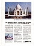 Click here to enlarge image and see more about item auc1616: Aramco Taj Mahal Ad auc1616