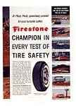 Click here to enlarge image and see more about item auc1621: Firestone  Pikes Peak Tire Safety Ad 1960