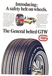 Click here to enlarge image and see more about item auc1624: General Belted GTW  Tire Ad 1960s