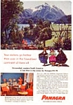 Click here to enlarge image and see more about item auc164: Panagra Advertisement auc164 Feb 1957