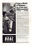 Click here to enlarge image and see more about item auc167: BOAC Airlines Ad Dec1963