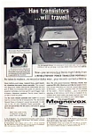 Click here to enlarge image and see more about item auc1712: Magnavox Transistor Radio Ad Jun 1962 B&W