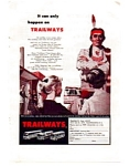 Trailways Bus LInes Thru-Liners Ad Sept 1959