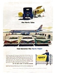 Hertz 1959 Chevy United DC-8 Ad Aug 1959