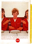 Click here to enlarge image and see more about item auc179: Coca Cola Ad auc179 April 1963 Coke Girls