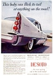Click here to enlarge image and see more about item auc1813: 1957 Desoto Fireflyte Ad in Color auc1813