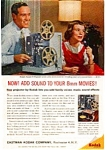 Click here to enlarge image and see more about item auc1825: Kodak Sound 8 Projector Ad auc1825