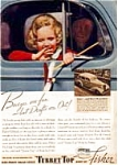 Click here to enlarge image and see more about item auc184: Body by Fisher and Chevrolet Ad 1930s