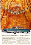 Click here to enlarge image and see more about item auc189: 1957 Cadillac Ad, 4-Door Hardtop Green