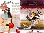 Click here to enlarge image and see more about item auc1912: French Line Ads Lot of 2 auc191 ca. 1950s