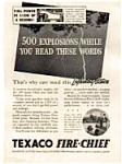 Texaco Fire Chief Ad 1930s Eddie Cantor