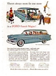 Click here to enlarge image and see more about item auc195: 1950s Ford Ranch Wagon Ad auc195