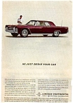 Click here to enlarge image and see more about item auc3126: 1962 Lincoln Continental Ad auc3126