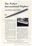 Click here to enlarge image and see more about item auc3130: Parker International Flighter Pen Ad auc3130 Dec 1961