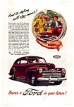 Click here to enlarge image and see more about item auc3135: Ford in Your Future Ad 1946