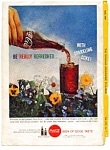Click here to enlarge image and see more about item auc3214: Coca Cola Ad auc3214 April 1959 Springtime Flowers