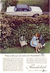 Click here to enlarge image and see more about item auc3310: 1963 Ford Thunderbird Ad