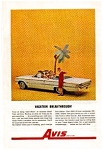 Click here to enlarge image and see more about item auc3314: Avis Ford Convertible Ad Dec 1962