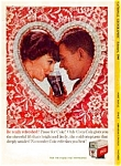 Click here to enlarge image and see more about item auc3318: Coca Cola Valentine Heart Ad auc3318 Feb 1960