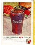 Click here to enlarge image and see more about item auc3325: Coca Cola Glass with Salad Ad auc3325 April 1961
