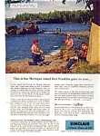 Click here to enlarge image and see more about item auc332: Sinclair Oil Isle Royal Michigan Ad auc332