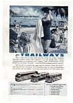 Click here to enlarge image and see more about item auc333: Trailways Bus Ad June 1957