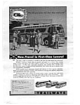 Click here to enlarge image and see more about item auc3340: Trailways First Class Luxury Ad Nov 1957