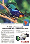 Canon Wildlife Series Ad auc3345 7 Colored Tanager
