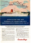 Click here to enlarge image and see more about item auc3349: Maiden Voyage of the Empress of Canada Ad