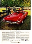 Click here to enlarge image and see more about item auc3353: 1963 Thunderbird Sports Roadster Ad auc3353