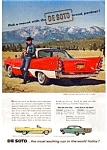 Click here to enlarge image and see more about item auc338: Desoto 2 Door Sportsman Ad May 1957