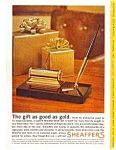 Click here to enlarge image and see more about item auc341: Shaeffer s Desk Set Ad auc341 Nov 1963