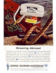 Click here to enlarge image and see more about item auc3421: General Telephone and Electronics Ad auc3421