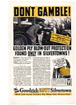 Goodrich Safety Silvertown Tire  Ad 1930s