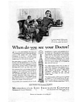 Click here to enlarge image and see more about item auc3437: Met Life When to See Your Doctor  Ad