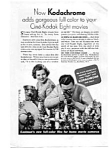 Click here to enlarge image and see more about item auc3438: Kodachrome Movie Film Ad 1930s
