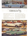 Click here to enlarge image and see more about item auc343: 1963 Chrysler 300 Ad auc343