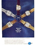 Click here to enlarge image and see more about item auc347: Hamilton 505 Watch Ad Aug 1962