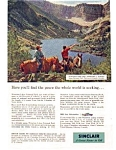Click here to enlarge image and see more about item auc348: Sinclair Oil Waterton Lakes National Park Ad