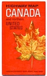 Highway Map Canada and the Northern US 1965 auc3512