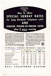 Click here to enlarge image and see more about item auc3513: Bell Telephone Sunday and Evening Rates Ad
