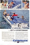 Click here to enlarge image and see more about item auc3602: Evinrude Sportsman Boat Ad auc3602