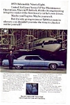 Click here to enlarge image and see more about item auc3608: 1973 Olds Ninety-Eight Ad auc3608