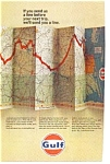 Gulf Oil Trip Map Service AD auc3616