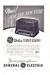 General Electric Table Radio Ad