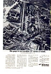 Click here to enlarge image and see more about item auc3707: BOAC London Flights Ad auc3707