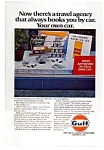 Click here to enlarge image and see more about item auc3710: Gulf Oil Travel Agency Ad auc3710